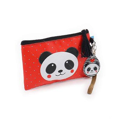 Necessaire Flat Panda Vermelho