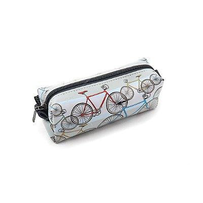 Estojo Estampado Bikes Cinza