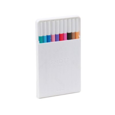 Kit Canetas Uniball Emott Extra Fina Soft Pastel Colors com 10 Cores