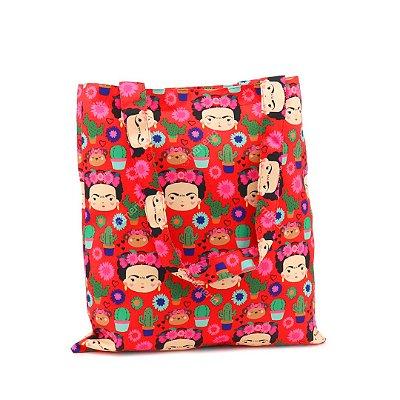 Bolsa Sacola Fun Frida Colores