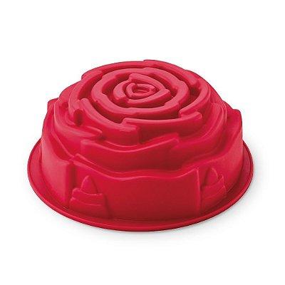 Forma para Bolo em Silicone Rosa