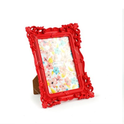 Porta Retrato Rococó Vermelho 13x18