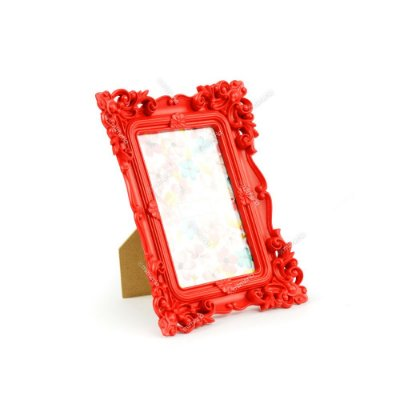 Porta Retrato Rococó Vermelho 10x15