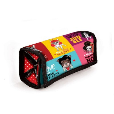 Necessaire Make com Divisórias Monsters of Dog