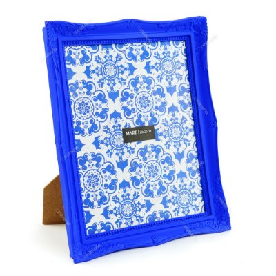 Porta Retrato Vintage Azul Royal 20x25