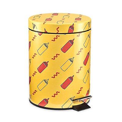 Lixeira Estampada Ketchup e Mostarda