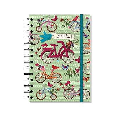Caderno Médio Decorado Bicicletas