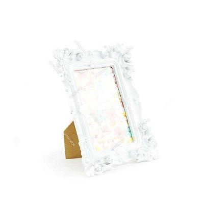 Porta Retrato Rococó Branco 10x15