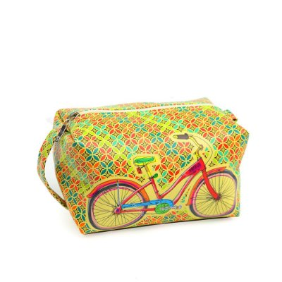 Necessaire Estampada Grande Bike Colorida
