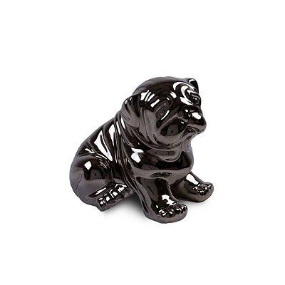 Cachorro em Cerâmica Metalizado