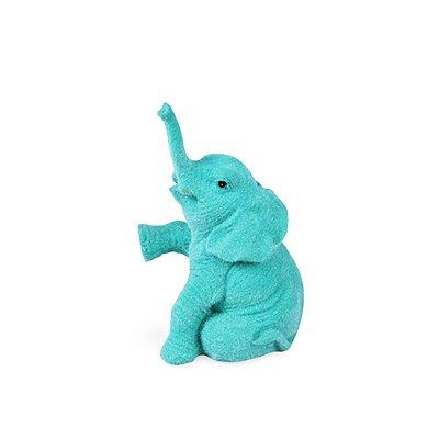 Elefante Mini Jade em Veludo