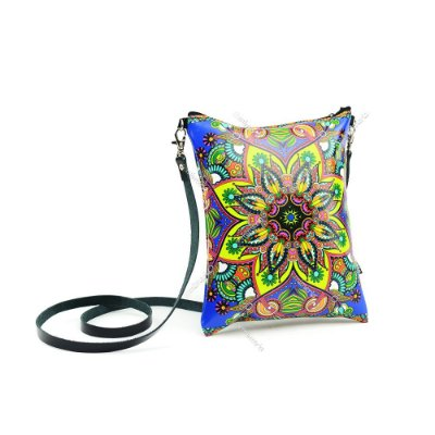 Bolsa Tiracolo Estampada Floral Mandala
