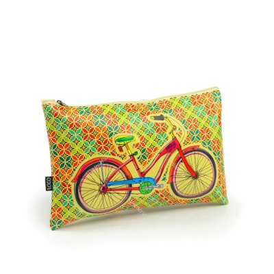 Necessaire Estampada Média Bike Colorida
