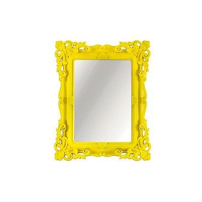 Espelho Decorativo Rococó Amarelo 13x18