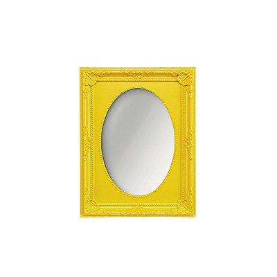 Espelho Vintage Oval Amarelo 10x15