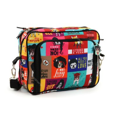 Bolsa Transversal Estampada Monsters of Dog