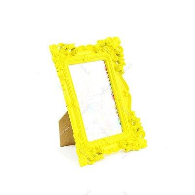 Porta Retrato Rococó Amarelo 10x15