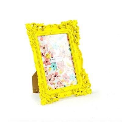 Porta Retrato Rococó Amarelo 13x18