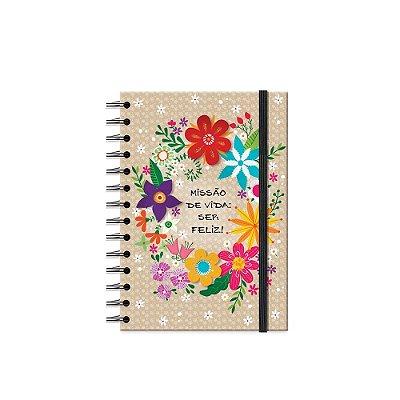 Caderno Médio Decorado Flora