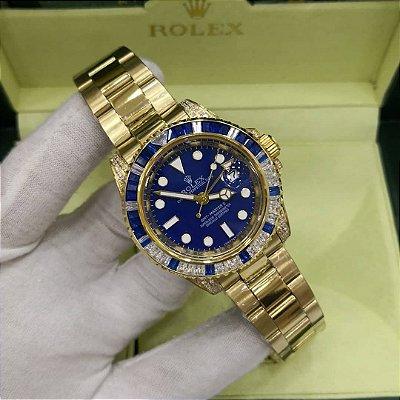 ROLEX CRAVEJADO BLUE GOLD - FE54EGFMX