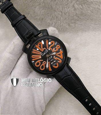 GAGA MILANO BLACK ORANGE CLASSIC - 966AL2KFY