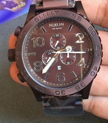 Relogio Nixon 51-30 Chrono Brown 9W4P3XXZ8