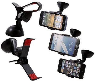 Suporte de GPS Celular Universal p/ Carro - Fixação no Vidro
