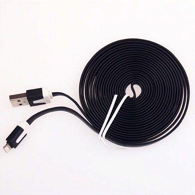 Cabo de Dados e Carregador USB 2.0 iPhone 5 e 6 - 3 Metros