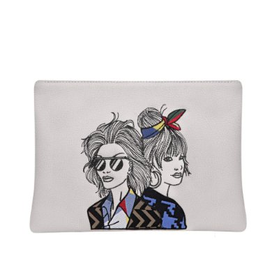 BOLSA CLUTCH ELLE E SUSIE OFF WHITE
