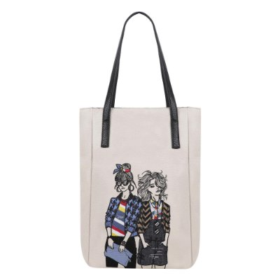 Bolsa Mini Shopping Bag Elle e Susie Off White