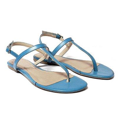 Sandália Rasteira Azul