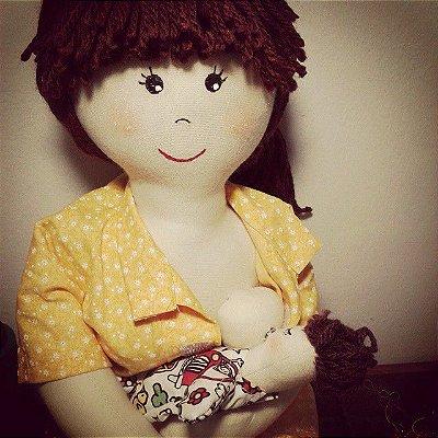 Mãe com Parto Natural (tamanho 47cm) (bonecos sexuados)