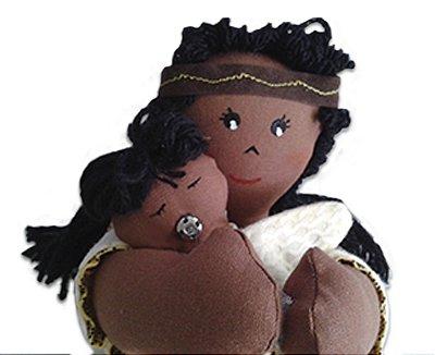 Boneco de Pano Mãe e bebê  (sexuado)