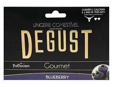 Lingerie Comestível Degust Gourmet - Hot Flowers | Sabor: Blueberry