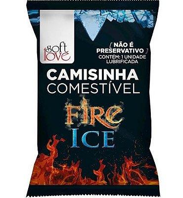 Camisinha Comestível Funcional - Fire & Ice - Soft Love