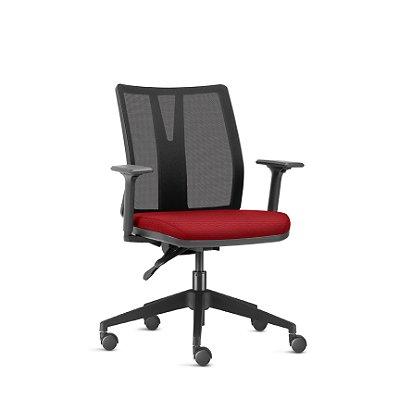 Cadeira addit frisokar com braço e encosto em tela