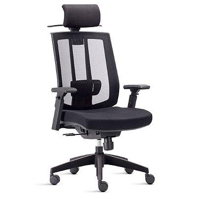 Cadeira Song com apoia cabeça cadeira executiva diretor