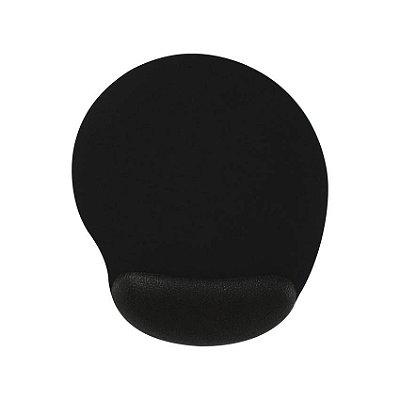 mouse pad com apoio ergonômico preto
