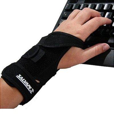 Munhequeira com tala órtese preta mão esquerda
