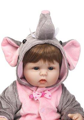 Boneca Bebe Reborn Corpo de Pano Elefantinho Promoção