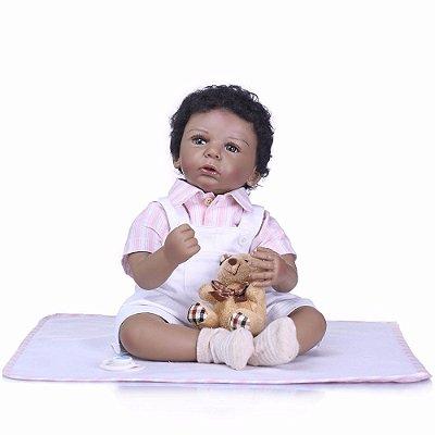 Boneca e Bebe Reborn Pyetro Corpo de Pano