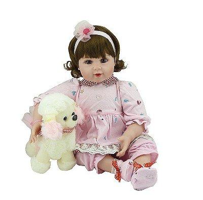 Boneca Bebe Reborn Corpo de Pano Fofinha