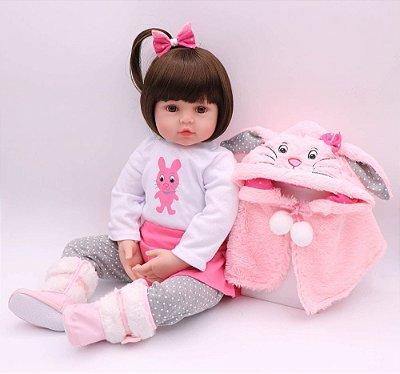 Boneca Bebe Reborn Alice Corpo de Pano  Super Oferta