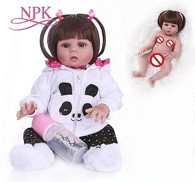 Boneca Bebe Reborn Panda Toda em Silicone Promoção