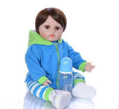 Boneca Bebe Reborn Pedrinho Corpo de Pano Mega Oferta