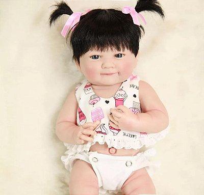 Boneca Bebe Reborn Japonesinha  Toda em Silicone Super Promoção
