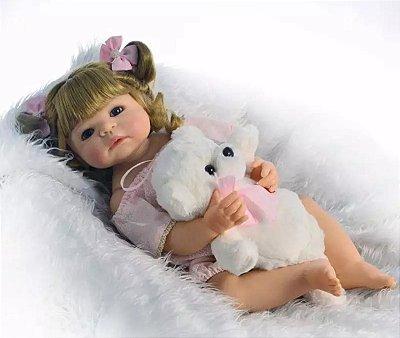 Boneca Bebe Reborn Antonella Toda em Silicone Oferta