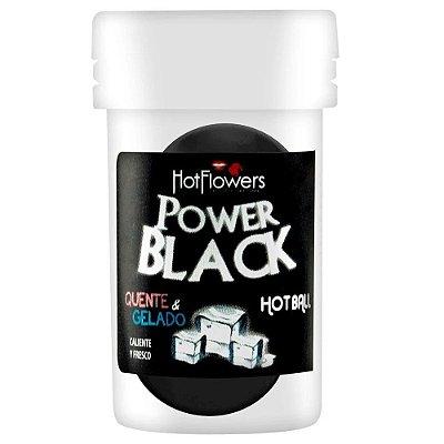 Bolinha Beijável Power Black 02 Unidades Hot Flowers - esquenta e esfria