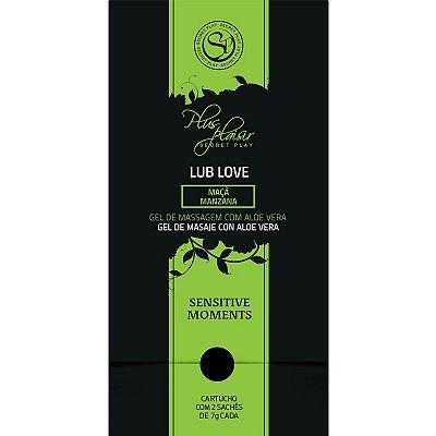 Sachets de Plaisir Lub Love - Gel de Massagem com Aloe Vera e Aroma de Maçã