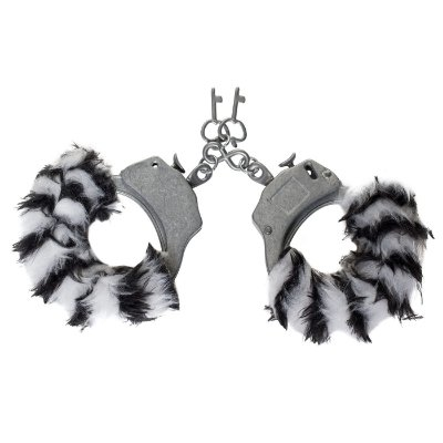 Algema de Pelúcia com Metal Zebra